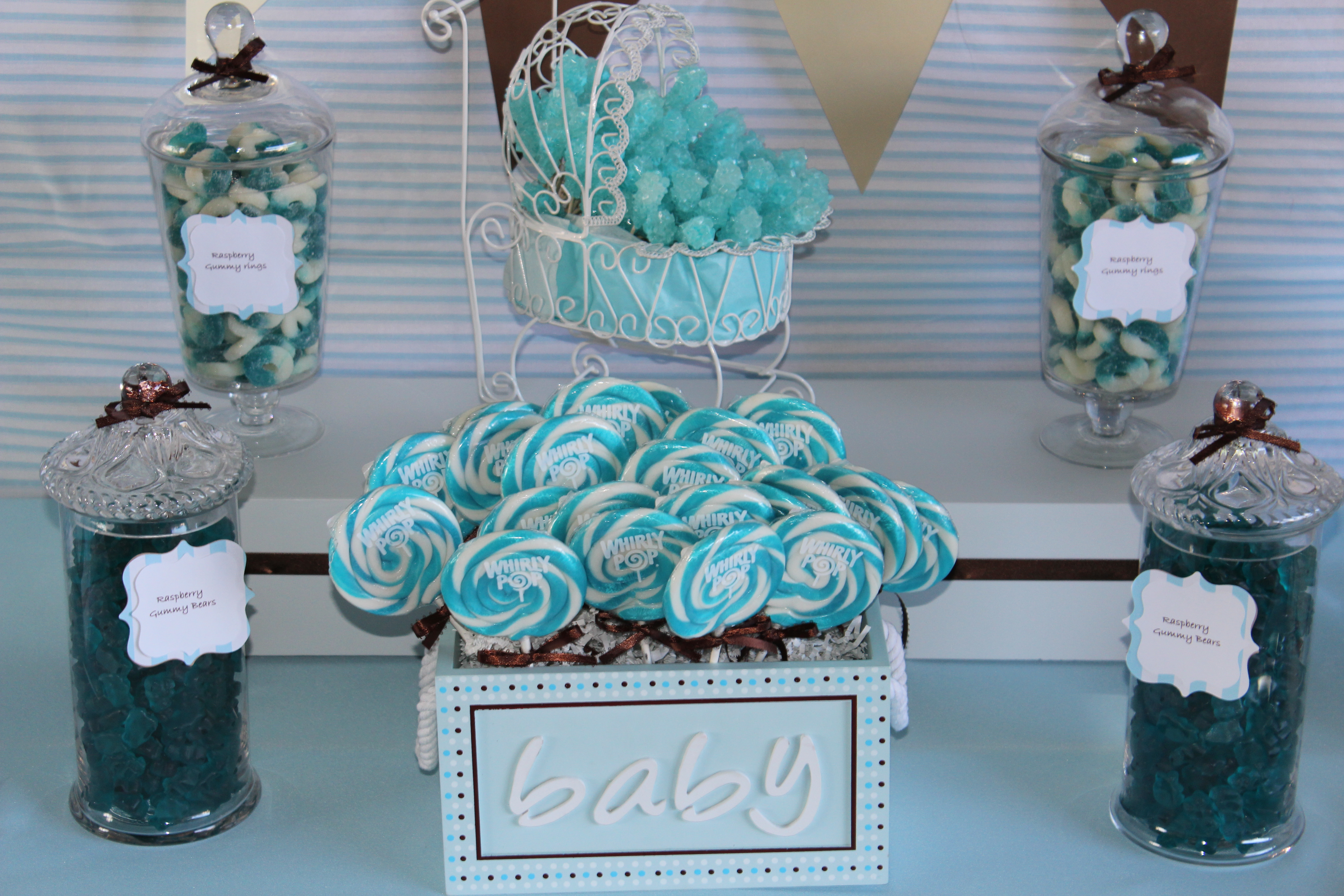 Baby shower ideas sweet love candy buffet company for Baby shower decoration sets