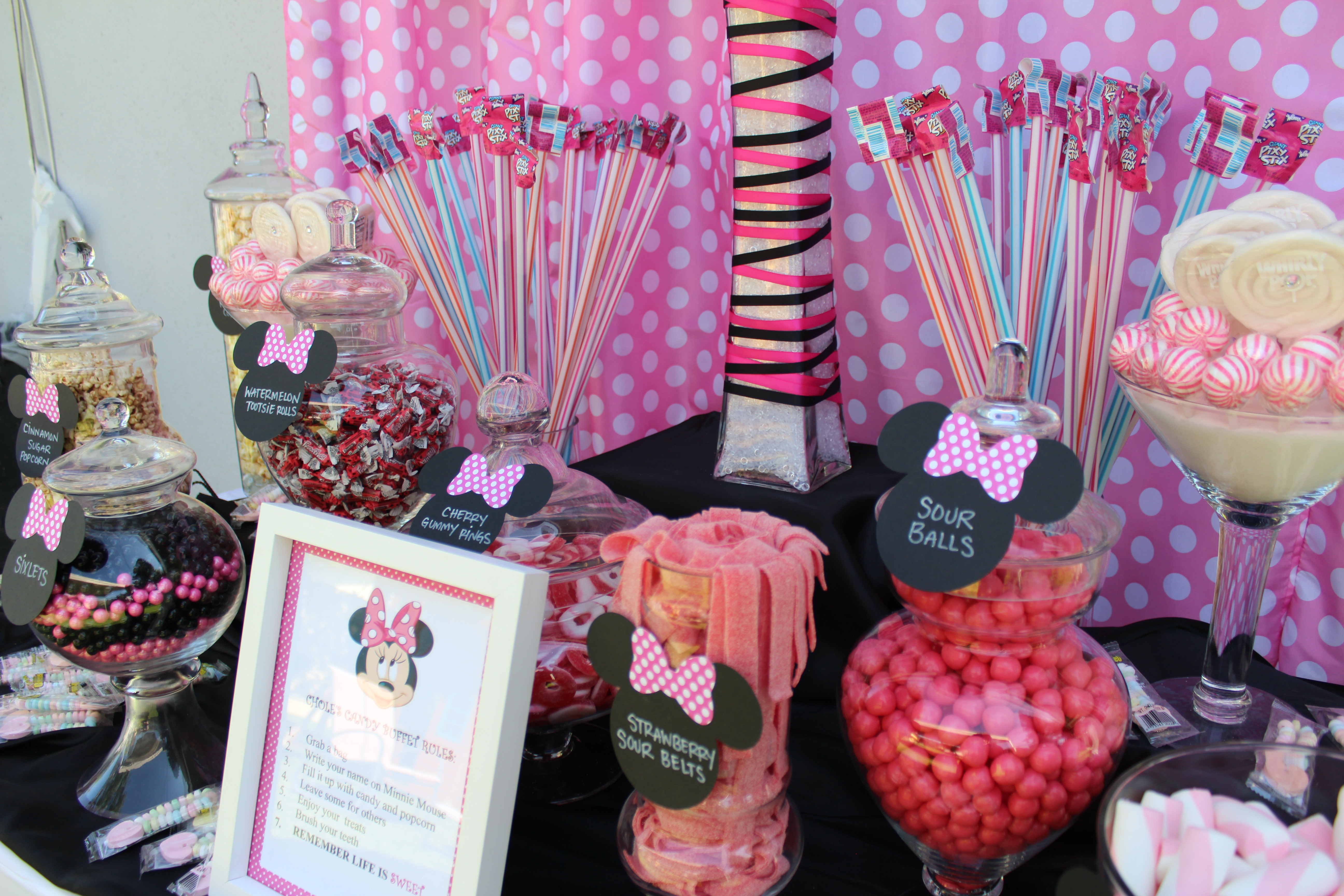 Minnie Mouse Candy Table Ideas Photograph Chloes